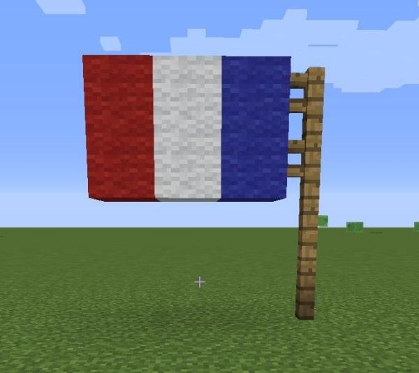 マイクラのプログラミングで作った国旗
